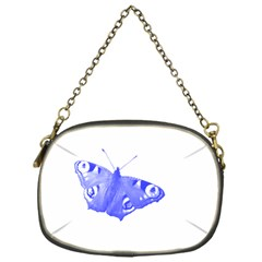 Decorative Blue Butterfly Chain Purse (one Side) by Colorfulart23