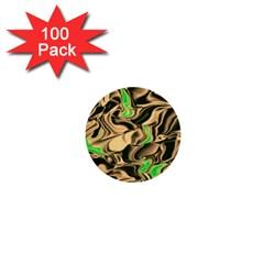 Retro Swirl 1  Mini Button (100 Pack) by Colorfulart23