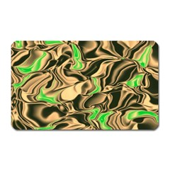 Retro Swirl Magnet (rectangular) by Colorfulart23