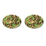 Retro Swirl Cufflinks (Oval) Front