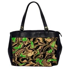 Retro Swirl Oversize Office Handbag (one Side) by Colorfulart23