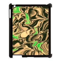 Retro Swirl Apple Ipad 3/4 Case (black) by Colorfulart23
