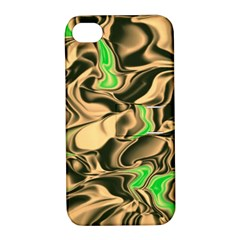 Retro Swirl Apple Iphone 4/4s Hardshell Case With Stand by Colorfulart23