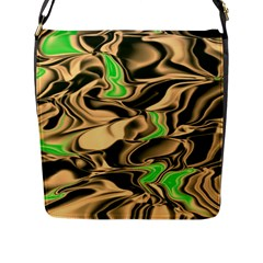 Retro Swirl Flap Closure Messenger Bag (large) by Colorfulart23