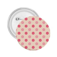 Pale Pink Polka Dots 2.25  Button