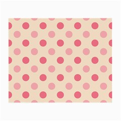 Pale Pink Polka Dots Glasses Cloth (small) by Colorfulart23