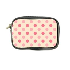 Pale Pink Polka Dots Coin Purse by Colorfulart23