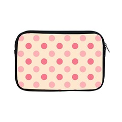 Pale Pink Polka Dots Apple Ipad Mini Zippered Sleeve by Colorfulart23