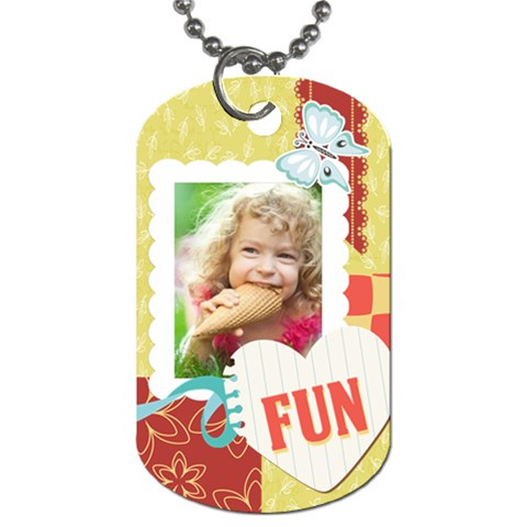 Kids By Kids   Dog Tag (one Side)   S26kwvsrhzjd   Www Artscow Com Front