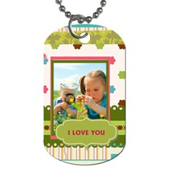 Kids By Kids   Dog Tag (two Sides)   Joqcxkbunq41   Www Artscow Com Front