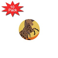 Embracing The Moon 1  Mini Button (10 Pack) by twoaboriginalart