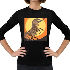 Embracing The Moon Women s Long Sleeve T Shirt (dark Colored) by twoaboriginalart