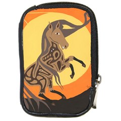 Embracing The Moon Compact Camera Leather Case by twoaboriginalart