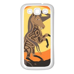 Embracing The Moon Samsung Galaxy S3 Back Case (white) by twoaboriginalart