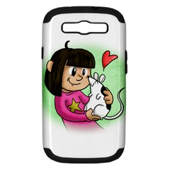 Bookcover  Copy Samsung Galaxy S Iii Hardshell Case (pc+silicone) by millieandcupcake