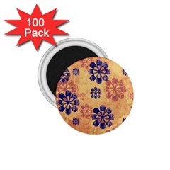 Funky Floral Art 1 75  Button Magnet (100 Pack) by Colorfulart23