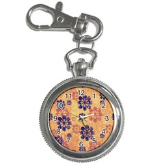 Funky Floral Art Key Chain & Watch by Colorfulart23