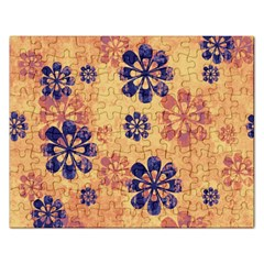 Funky Floral Art Jigsaw Puzzle (rectangle) by Colorfulart23
