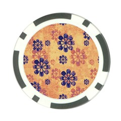 Funky Floral Art Poker Chip (10 Pack) by Colorfulart23