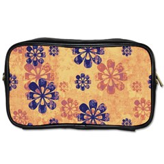 Funky Floral Art Travel Toiletry Bag (one Side) by Colorfulart23