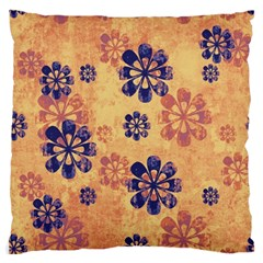 Funky Floral Art Large Cushion Case (two Sided)  by Colorfulart23
