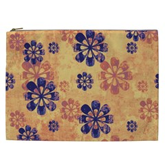 Funky Floral Art Cosmetic Bag (xxl) by Colorfulart23