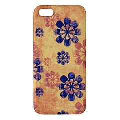 Funky Floral Art Iphone 5s Premium Hardshell Case by Colorfulart23