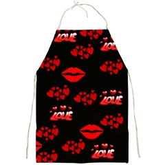 Love Red Hearts Love Flowers Art Apron by Colorfulart23