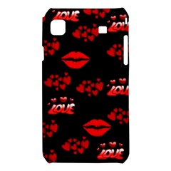 Love Red Hearts Love Flowers Art Samsung Galaxy S i9008 Hardshell Case