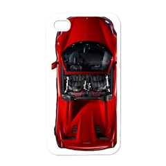 Ferrari Sport Car Red Apple Iphone 4 Case (white) by BrilliantArtDesigns