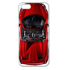 Ferrari Sport Car Red Apple Seamless Iphone 5 Case (clear) by BrilliantArtDesigns