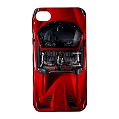 Ferrari Sport Car Red Apple Iphone 4/4s Hardshell Case With Stand by BrilliantArtDesigns