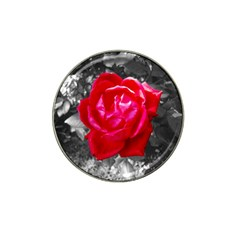 Red Rose Golf Ball Marker (for Hat Clip) by jotodesign