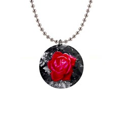 Red Rose Button Necklace by jotodesign