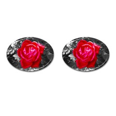 Red Rose Cufflinks (oval) by jotodesign