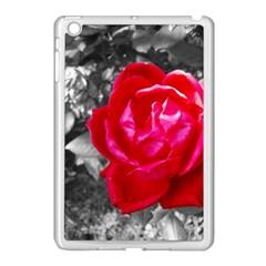 Red Rose Apple Ipad Mini Case (white) by jotodesign