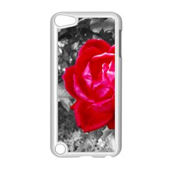 Red Rose Apple Ipod Touch 5 Case (white) by jotodesign