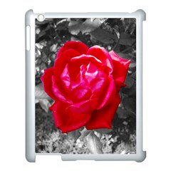 Red Rose Apple Ipad 3/4 Case (white)