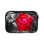 Red Rose Apple iPad Mini Zippered Sleeve Front