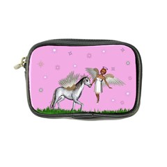 Unicorn And Fairy In A Grass Field And Sparkles Coin Purse by goldenjackal