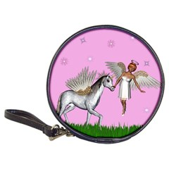 Unicorn And Fairy In A Grass Field Cd Wallet by goldenjackal