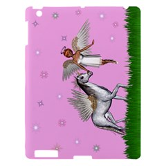 Unicorn And Fairy In A Grass Field And Sparkles Apple Ipad 3/4 Hardshell Case by goldenjackal