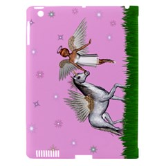 Unicorn And Fairy In A Grass Field And Sparkles Apple Ipad 3/4 Hardshell Case (compatible With Smart Cover) by goldenjackal