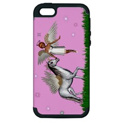 F Apple Iphone 5 Hardshell Case (pc+silicone) by goldenjackal