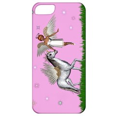 Unicorn And Fairy In A Grass Field And Sparkles Apple Iphone 5 Classic Hardshell Case by goldenjackal