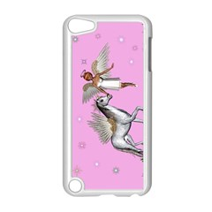 Unicorn And Fairy In A Grass Field And Sparkles Apple Ipod Touch 5 Case (white) by goldenjackal