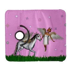 Unicorn And Fairy In A Grass Field And Sparkles Samsung Galaxy S  Iii Flip 360 Case by goldenjackal
