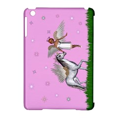 Unicorn And Fairy In A Grass Field And Sparkles Apple Ipad Mini Hardshell Case (compatible With Smart Cover) by goldenjackal