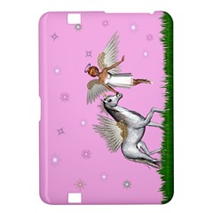 Unicorn And Fairy In A Grass Field And Sparkles Kindle Fire Hd 8 9  Hardshell Case by goldenjackal