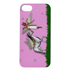 Unicorn And Fairy In A Grass Field And Sparkles Apple Iphone 5s Hardshell Case by goldenjackal
